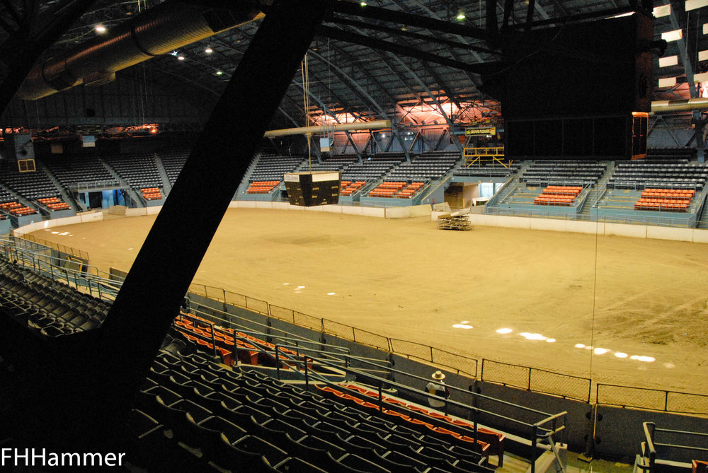 Interior of the State Fairgrounds Coliseum, 2012, photo by Frank Hammer.