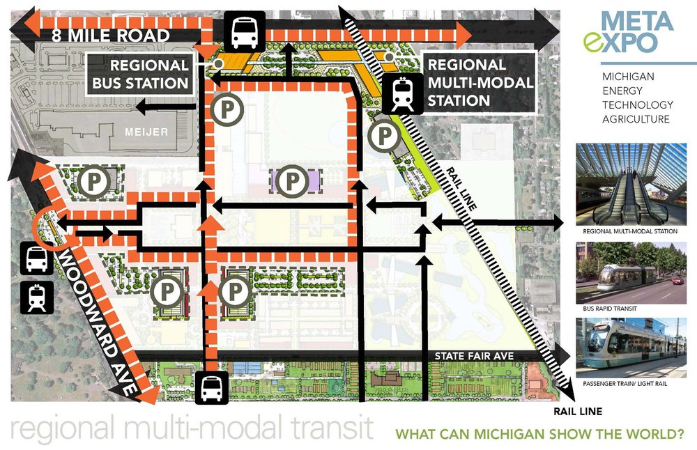 Regional Multi-modal Transit Hub - traffic patterns