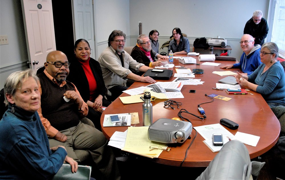 SFDC Steering Committee meeting, L-R: Karen Hammer, Jeffrey Jones, Adrienne Warren, Steve Soviak, Peter Benz, Sam Butler, David Szpond, John Grushala, Peter Rhodes, Marya Sosulski.February 8, 2018