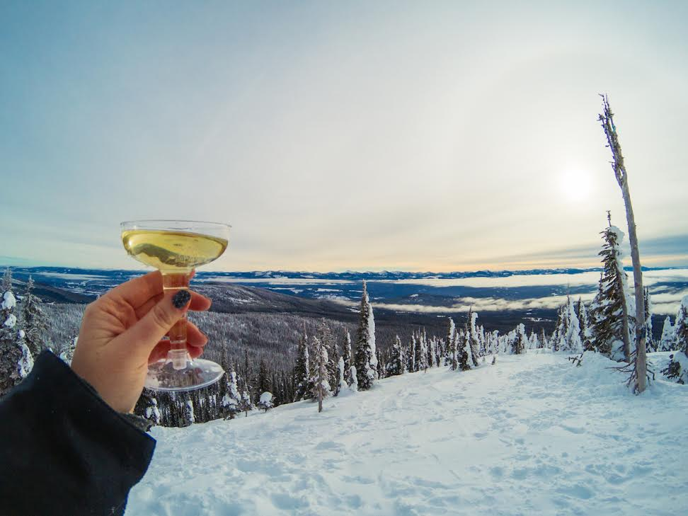A mountaintop champagne toast to Laura