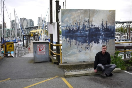 Painting in the Rain2013 - Fisherman's Harbour VancouverPhoto: Frank Lee