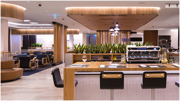 A QANTAS Business Class lounge (photo from QANTAS website)