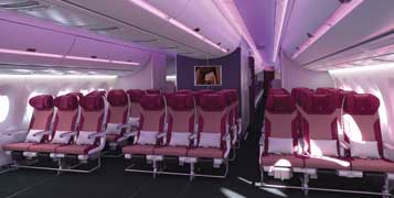 A350-900 ECONOMY CLASS (IMAGE FROM QATAR'S WEBSITE)