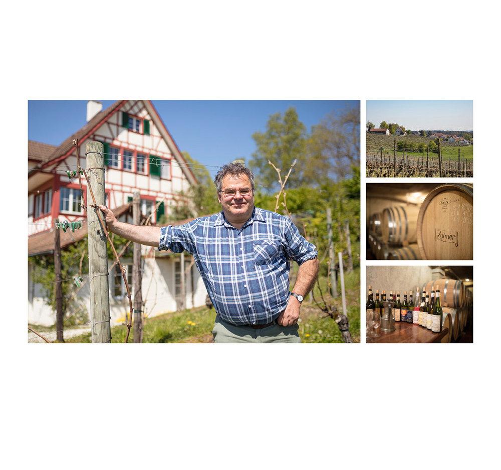 Landwerker & Gaumenfreunde  wo die Schlosshalde einkauft  Portraits von Produzenten für das  Gasthaus Schlosshalde      Niklaus Zahner, Truttikon