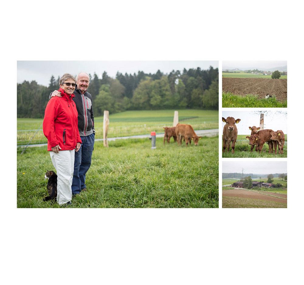 Landwerker & Gaumenfreunde  wo die Schlosshalde einkauft  Portraits von Produzenten für das  Gasthaus Schlosshalde      Anita & Jakob Ulrich-Müller, Guntalingen