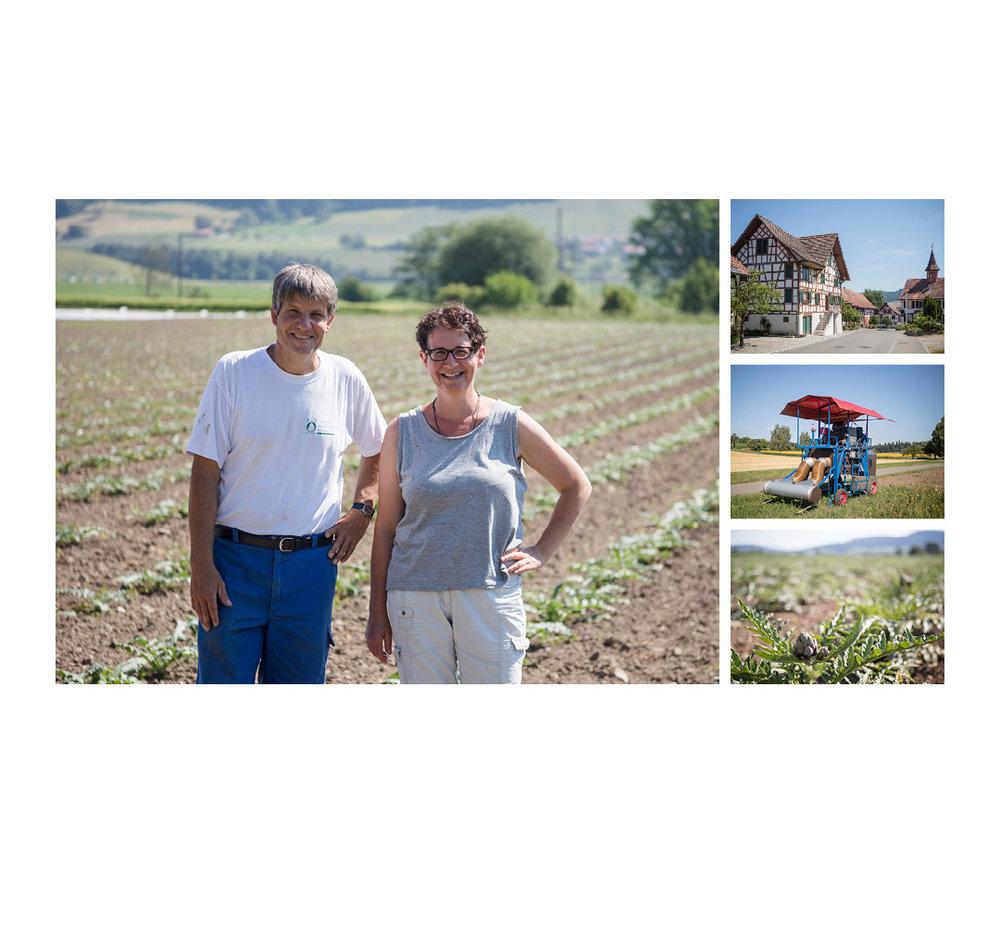 Landwerker & Gaumenfreunde  wo die Schlosshalde einkauft  Portraits von Produzenten für das  Gasthaus Schlosshalde     Daniel Reutimann & Magdalena Elmiger, Guntalingen
