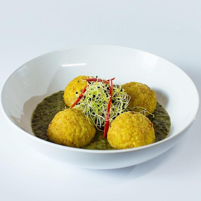 Curried Cauliflower Arancini