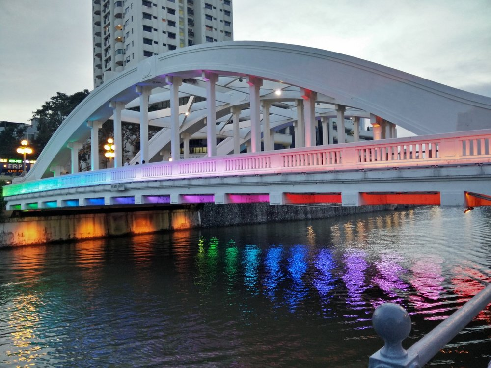 To show my appreciation for temporary installations like this lighting of a bridge, I'm counting this as public art