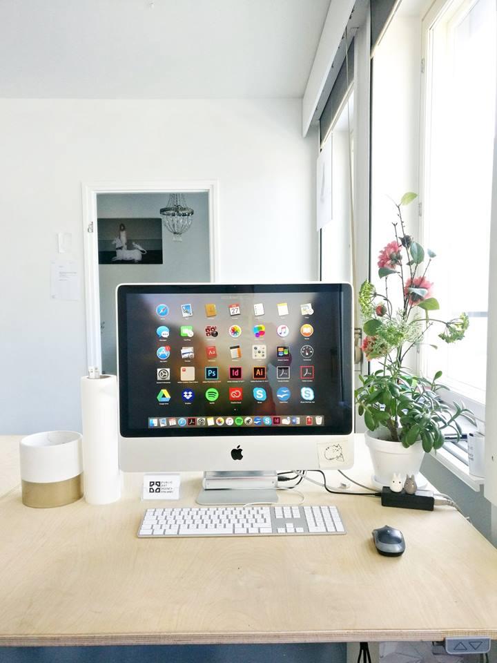 iMac-tietokoneen käytöstä vierailijatunnuksin voidaan sopia, tai voimme viedä sen pois tieltä.