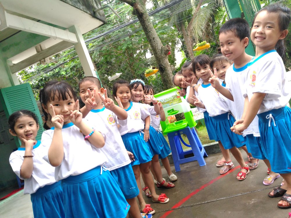 HappyTap in schools - Every child deserves a chance to learn without getting sick. But thousands of schools across Vietnam lack basic sinks, putting kids at risk of diarrhea, compounding their chances for malnutrition and stunting. We want to help schools be healthy environments where kids can focus on learning and playing. Join us to create environments that reinforce healthy behavior, like easy and fun handwashing with soap.