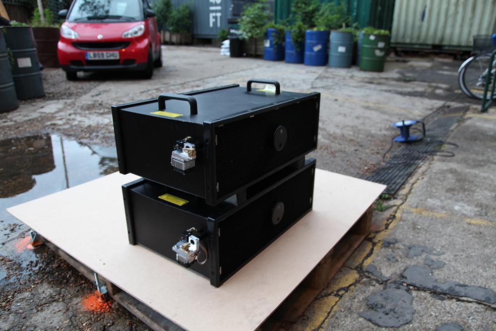 Lightvert's latest high power high speed ECHO projection system.
