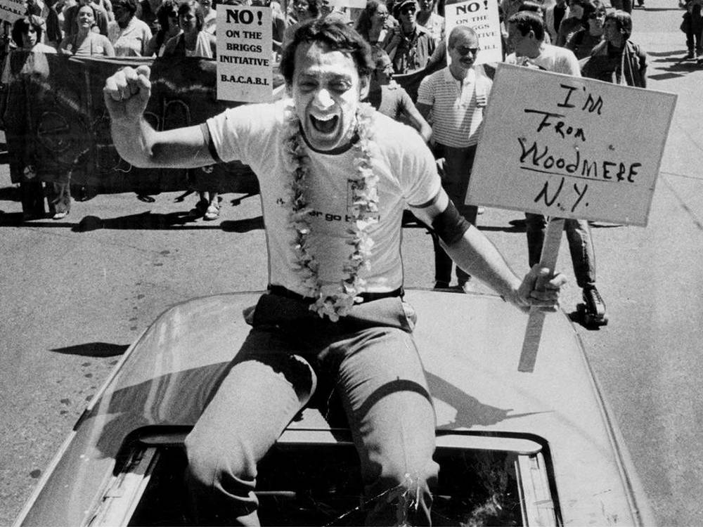 1978 - Harvey Milk at Gay Pride.