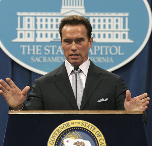 "2003 - 2011 - The ""governator"" Arnold Schwawrzenegger."