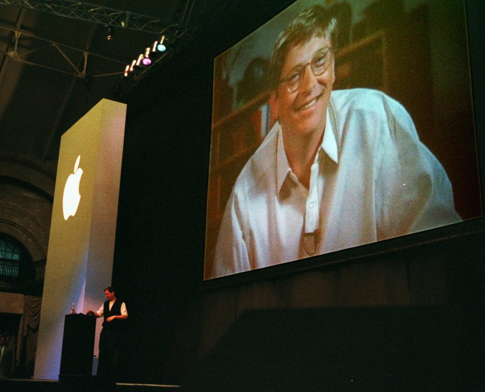 1997 - The infamous Bill Gates appearance at the Macworld Expo.