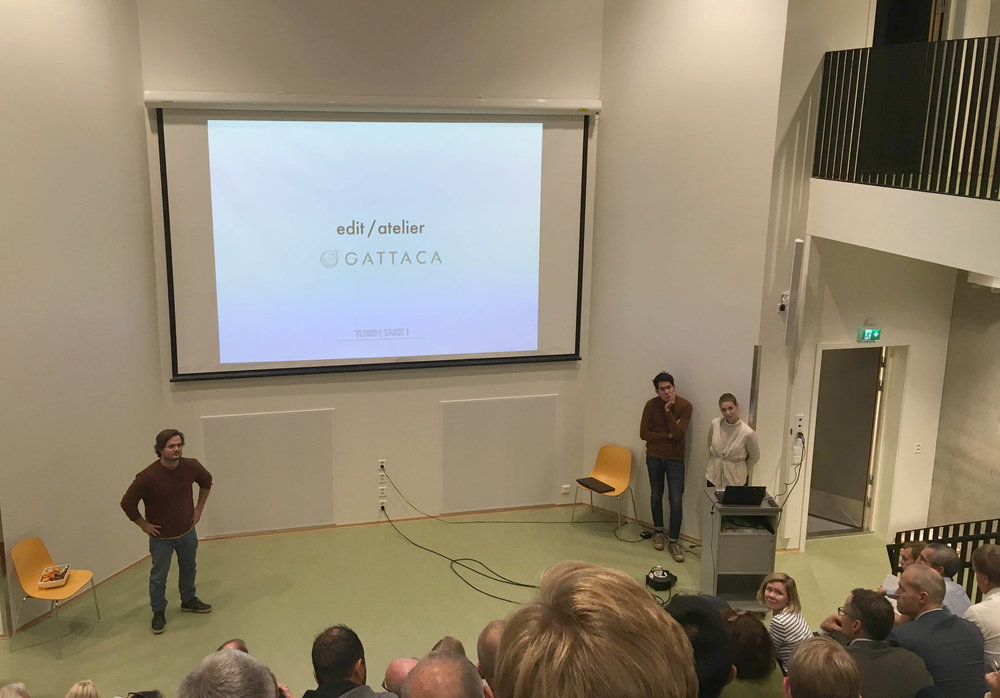 Midway Seminar & Public Hearing for the Lørenskog Station Area - 18.09.2018 - Luhr School, Lørenskog - Edit/atelier & Tin partook in the midway seminar for the parallel commission of Lørenskog station area. It consisted of back-to-back presentations for the mayor, municipal officials, property developers and for the locals. We presented a strategy investigating employment rates, tourism, household prognosis and speculated upon an activity-based industry related to their billion kroner investment in the Winterpark.Fun fact: Tin was also present at OUA this day, and was biking back-and-forth between Lørenskog deliberations and the sessions at OUA - then travelling out to Lørenskog presenting twice, before coming back to Oslo for the dinner party.