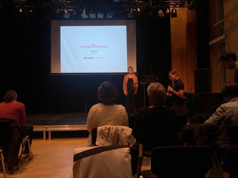 The Conclusion of Lørenskog Station Area - 22.10.2018 - Lørenskog Hus, Lørenskog - Linn Runesson presented on behalf of the Edit/atelier & Tin, as the parallel commission for Lørenskog Station Area reaches its final conclusion..