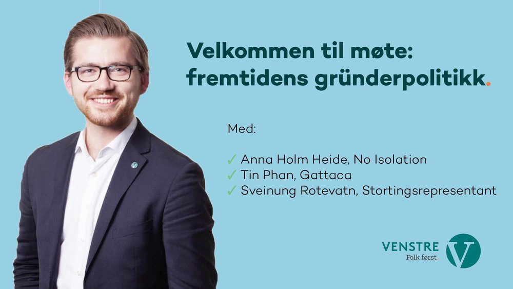 Keynote at the members Meeting of Oslo Venstre (Liberal Party) - 06.06.2017 - Mesh T2, Oslo - Presenting,