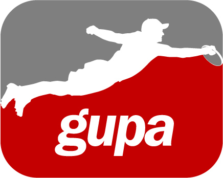 Second GUPA logo. Rejected for being sexist. So glad we didn't use this.
