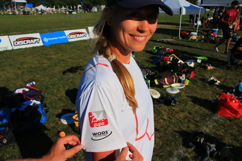 A happy German. Julia with a new Canadian jersey. GUPA and WODS go to Marburg.