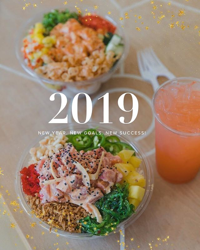 We will be open for New Year's Eve and New Year's Day from 11am-9pm. End of start your year the right way! 🤗 #pokiland #poki #poke #newyears #food #foodie #instaeat #instafood #fresno #clovis #fresnofoodie #fresnostate