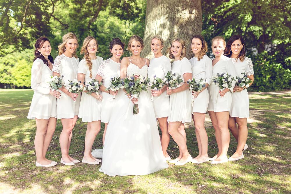 Bridesmaids at Chapman Wedding