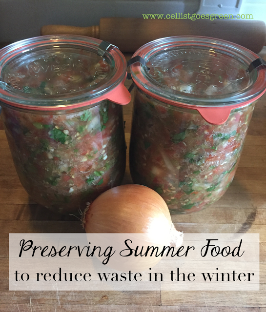 Preserving summer food to reduce waste in the winter