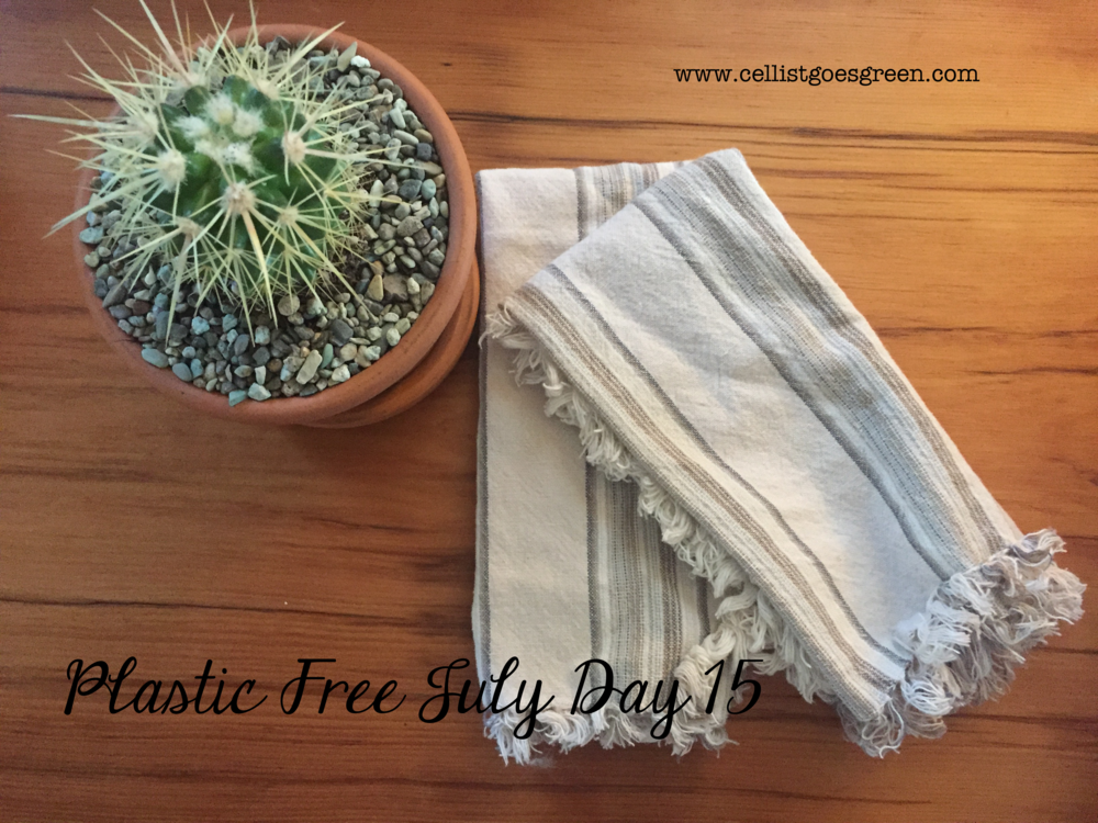 Plastic Free July Day 15: Using cloth napkins | Cellist Goes Green