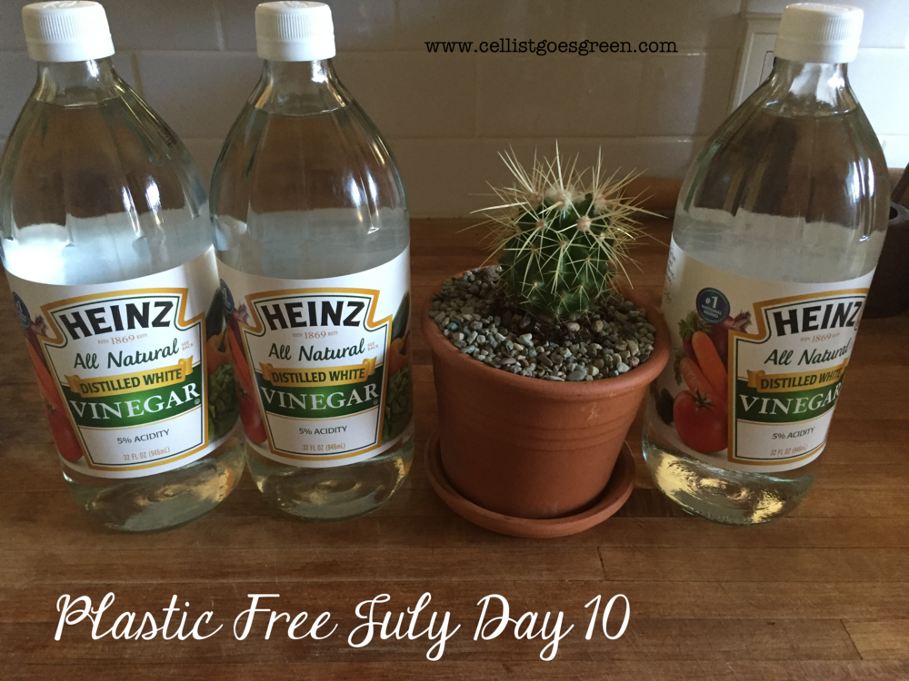 Plastic Free July Day 10: Cleaning with vinegar | Cellist Goes Green