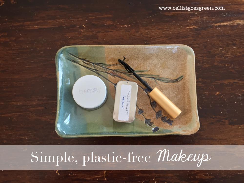 Simple, plastic free makeup | Cellist Goes Green
