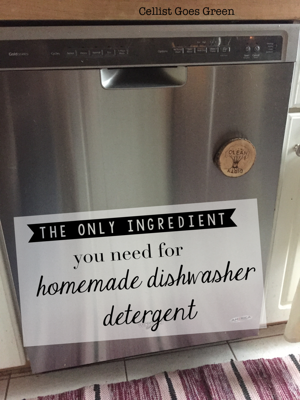 The ONLY ingredient you need for homemade dishwasher detergent | Cellist Goes Green