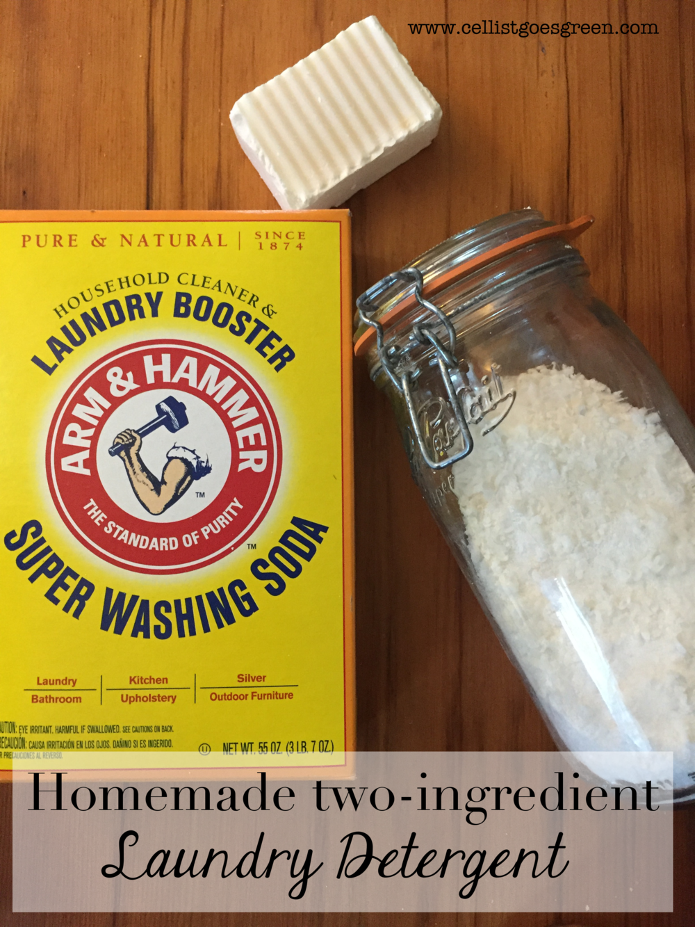 Two-ingredient laundry detergent | Cellist Goes Green