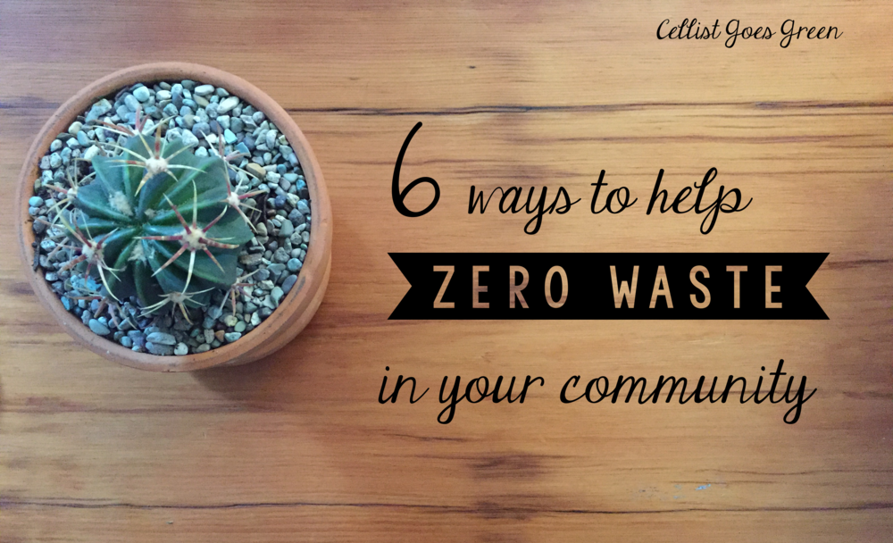 6 ways to help zero waste in your community | Cellist Goes Green