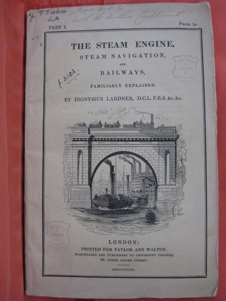 The Steam Engine by Dionysius Lardner, 1839