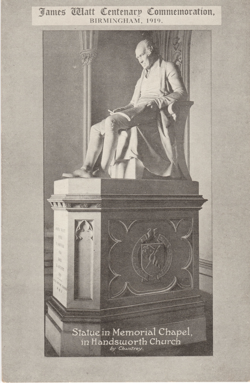 Statue in Memorial Chapel in Handsworth Church