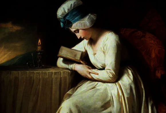 Serena reading by George Romney