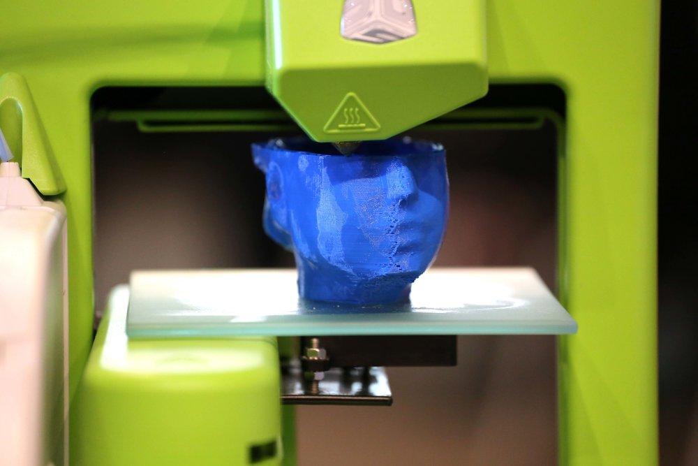 3D printing in progress, photo Susana Sanroman