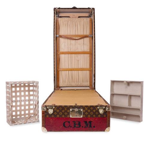 very unusual louis vuitton wardrobe trunk circa 1930 - Wardrobe Trunk