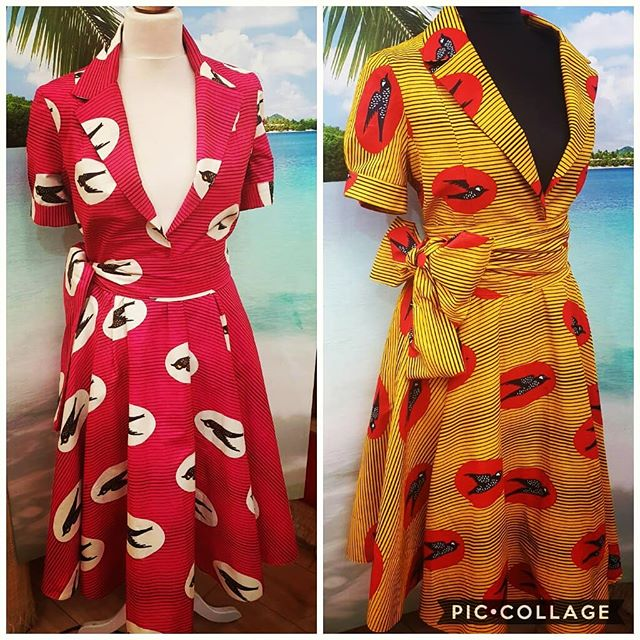 We have this sweet little #1950s #summertime vibe going on in the shop today. It may be #cold out in #London now but being the optimists that we are, we start prepping for the #sunshine early anyway! 😎 #NoOneFamous #Design #Tailoring #Alterations #Dresses #Style #Fashion #Cute #SummerHolidays
