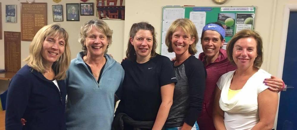 Rosemary Perkins, Cathryn Colville, Jo Gilbert, Jane Davies, Rachel Parker, Julia Bayley.