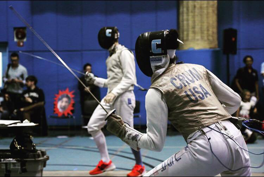 Quin Crum foil fences at Columbia University