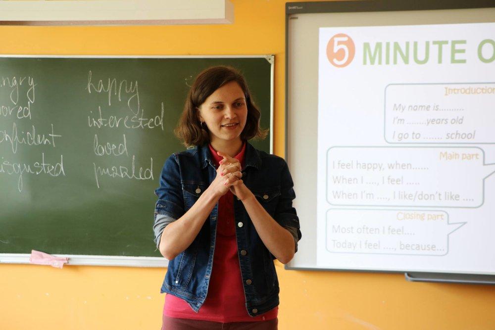 Evija Pumpuriņa IM vasaras skolā.