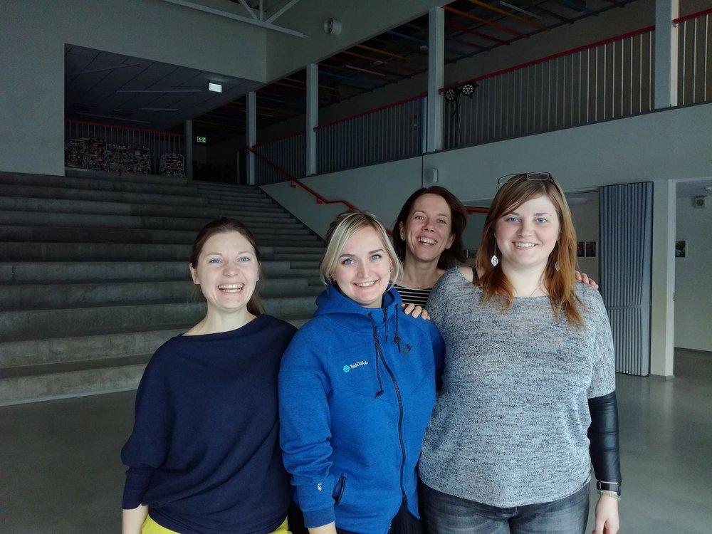 Latvijas komandas sastāvā bija Iespējamās misijas pārāstāves Dace Bērtule, Lauma Priekule un Madara Kosolapova.