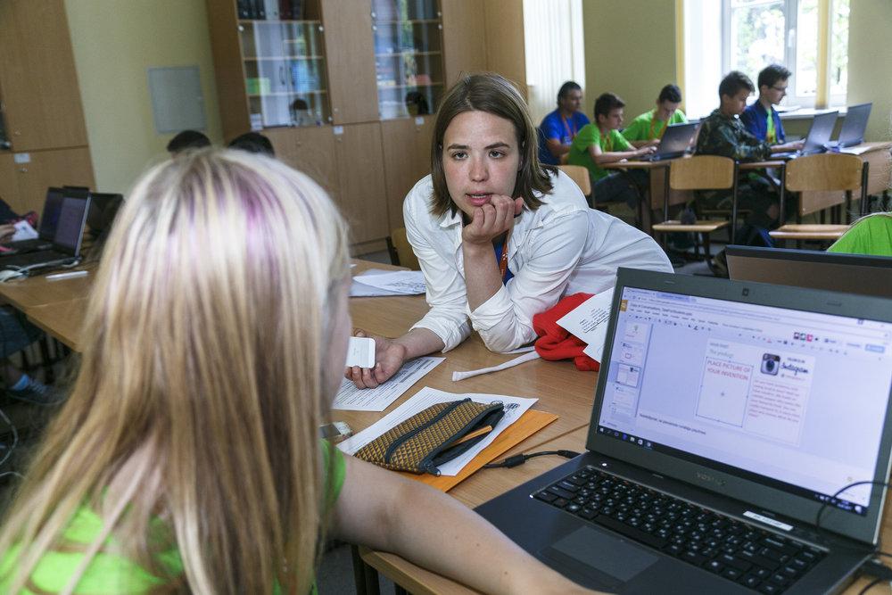 Ilze Vaivode with her student