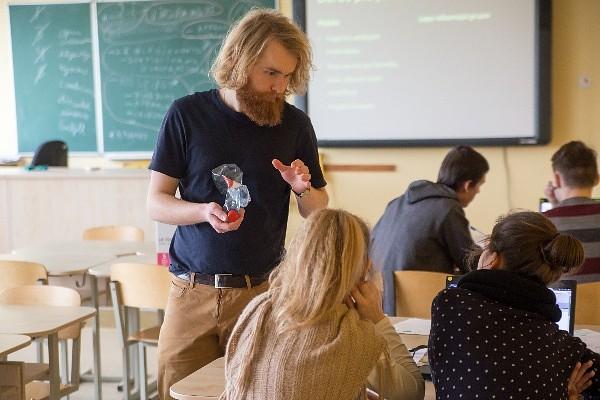 Jēkabs in his classroom. Photo: liepājniekiem.lv
