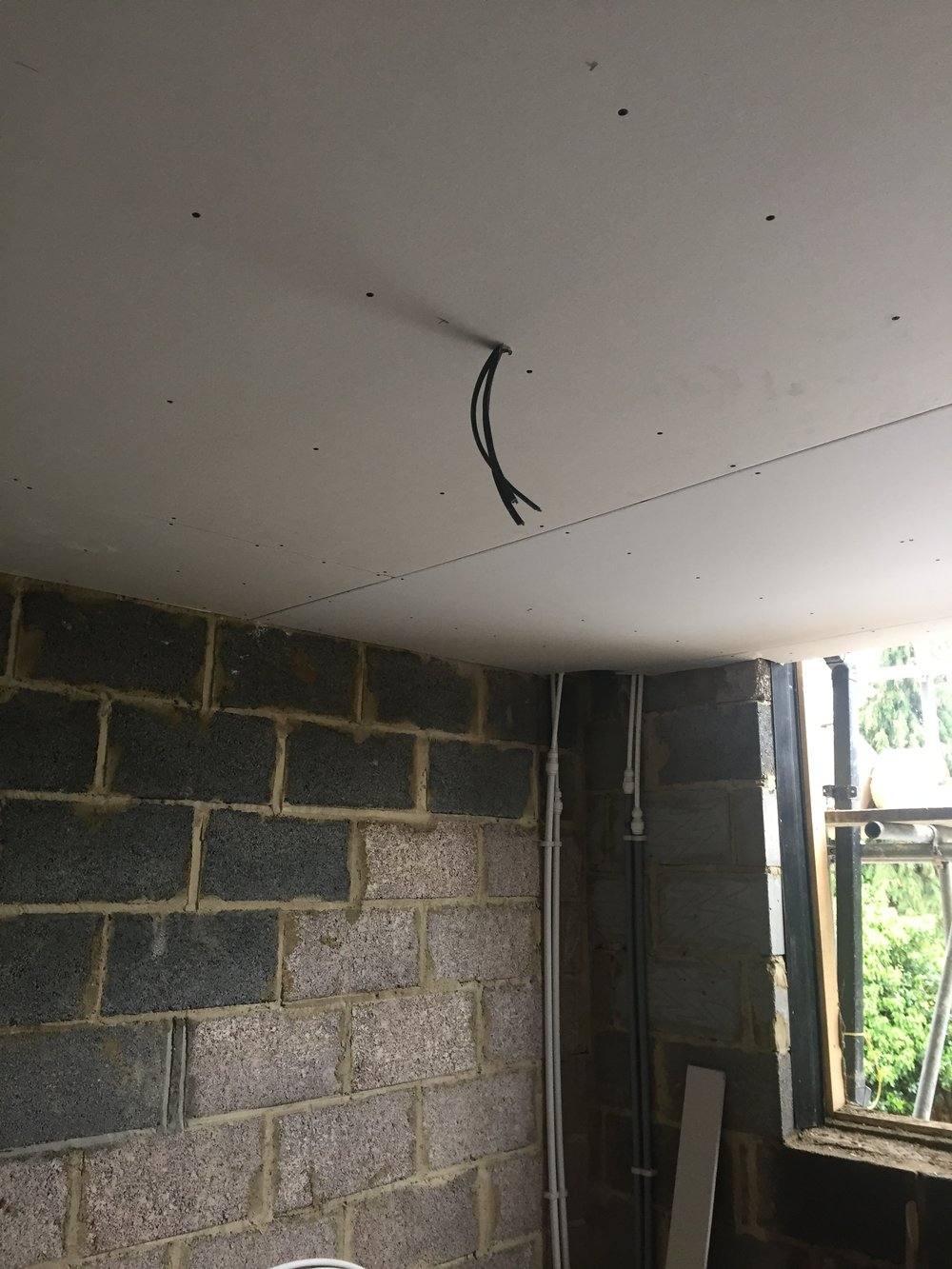 Week 17 - Plasterboard, 1st fix plumbing and 1st fix electrics2.JPG