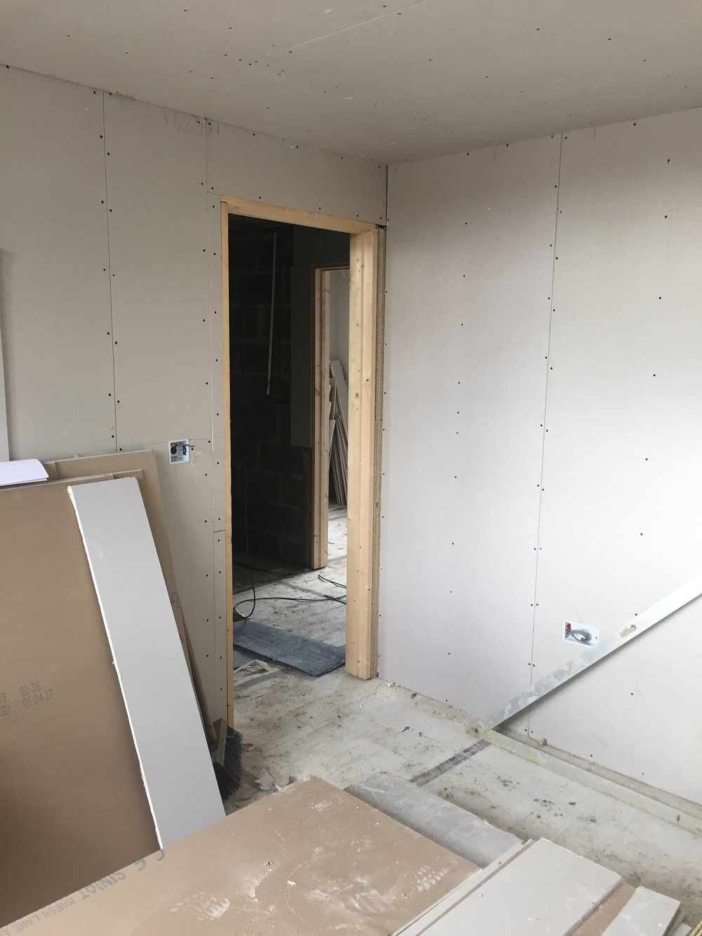 Week 17 - Plasterboard, 1st fix plumbing and 1st fix electrics22.JPG