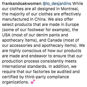 Instagram/Frank&Oak