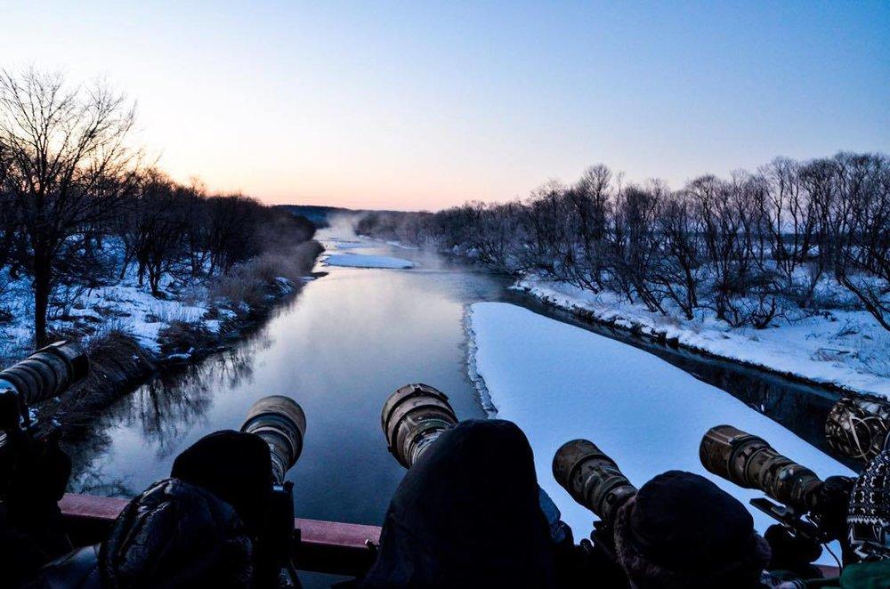 *前回参加したのは2月の冬の鶴居村。早朝に鶴を見に行ったときの一枚。)