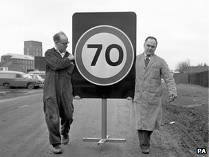 transport font being tested on the road