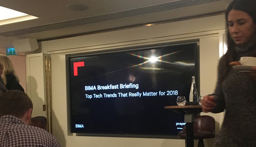 What we learnt from BIMA's breakfast briefing: The Top Tech Trends That Really Matter For 2018